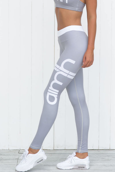 Grey Stripe Tights - PURE DASH