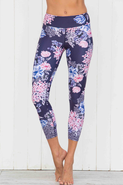 Crafted Floral High Waist 7/8 Leggings