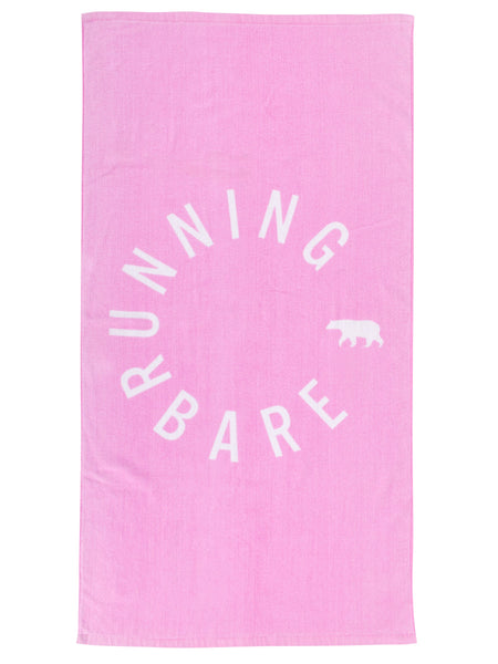 Pink Run Rabbit Sweat Towel