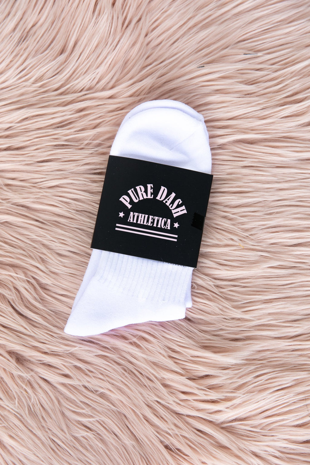 Pure Dash Crew Socks - Black/White