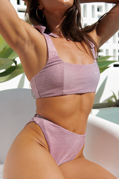 Avalon Top - Sparkly Mauve