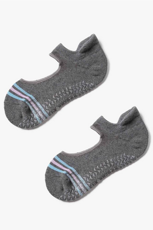 Mandy Grip Sock - Grey Blue - PURE DASH