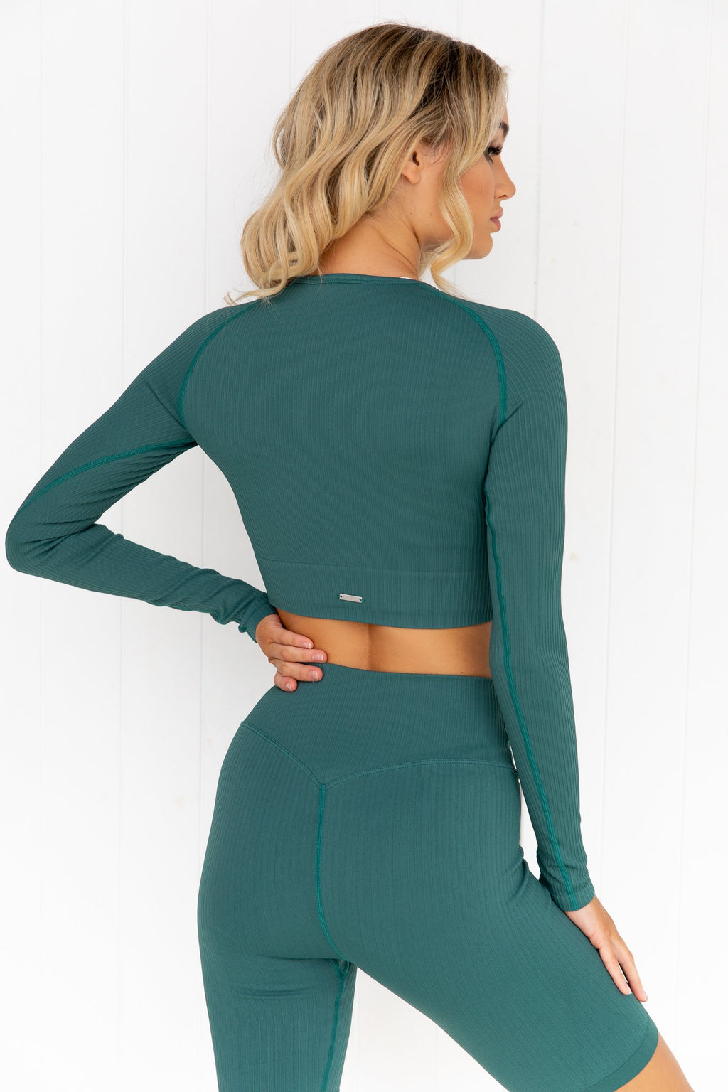 Hydro Ribbed Seamless Crop Long Sleeve