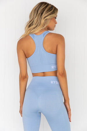 Seamless Staples Sports Bra - Denim Blue Marl