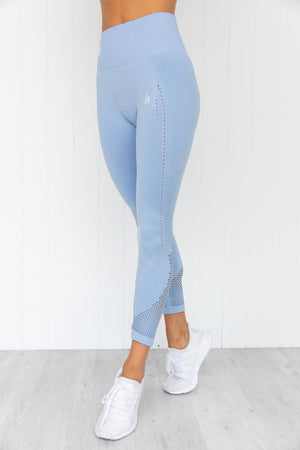 Seamless Staples Leggings - Denim Blue Marl