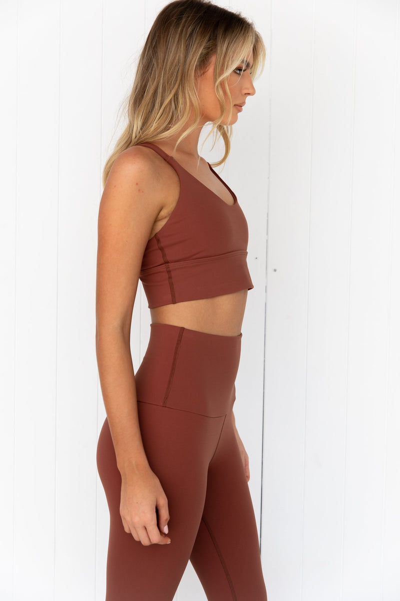 Lotus Crop Top - Toffee