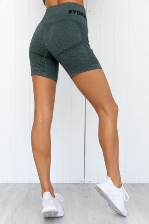 Seamless Staples Shorts - Forest Green Marl