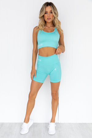 Seamless Staples Sports Bra - Aqua Marl