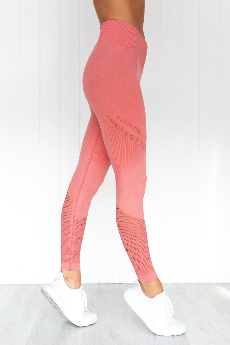 Bubblegum Washed Statement Seamless Tights