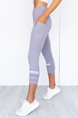 Lolah Legging - Lilac Grey