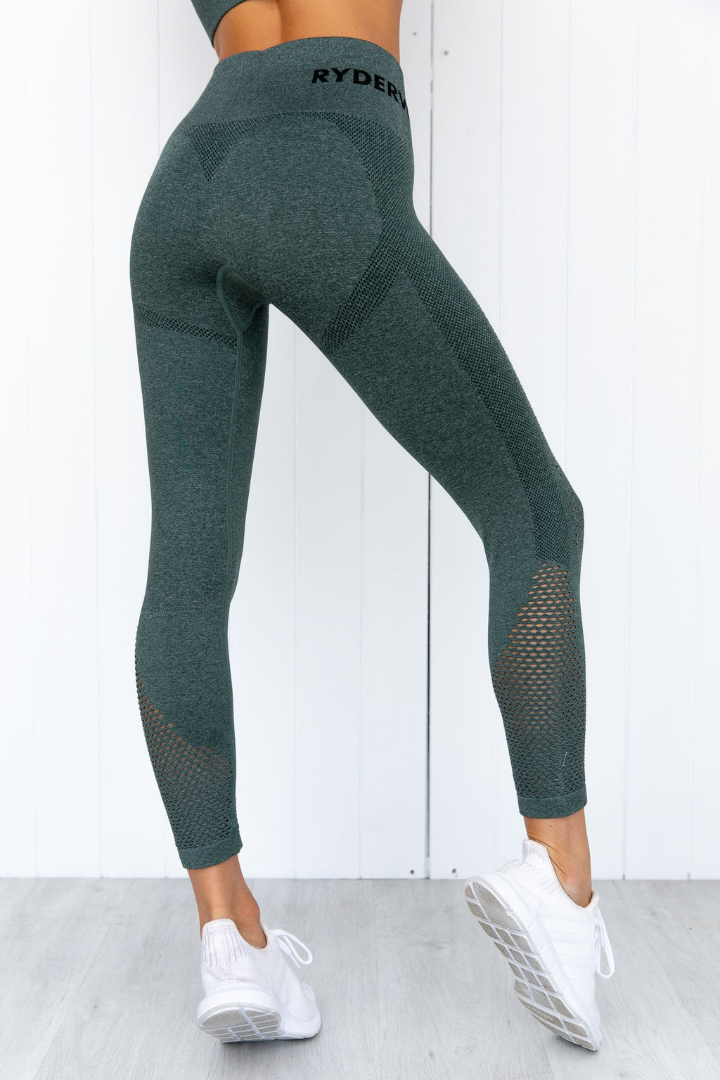Seamless Staples Leggings - Forest Green Marl