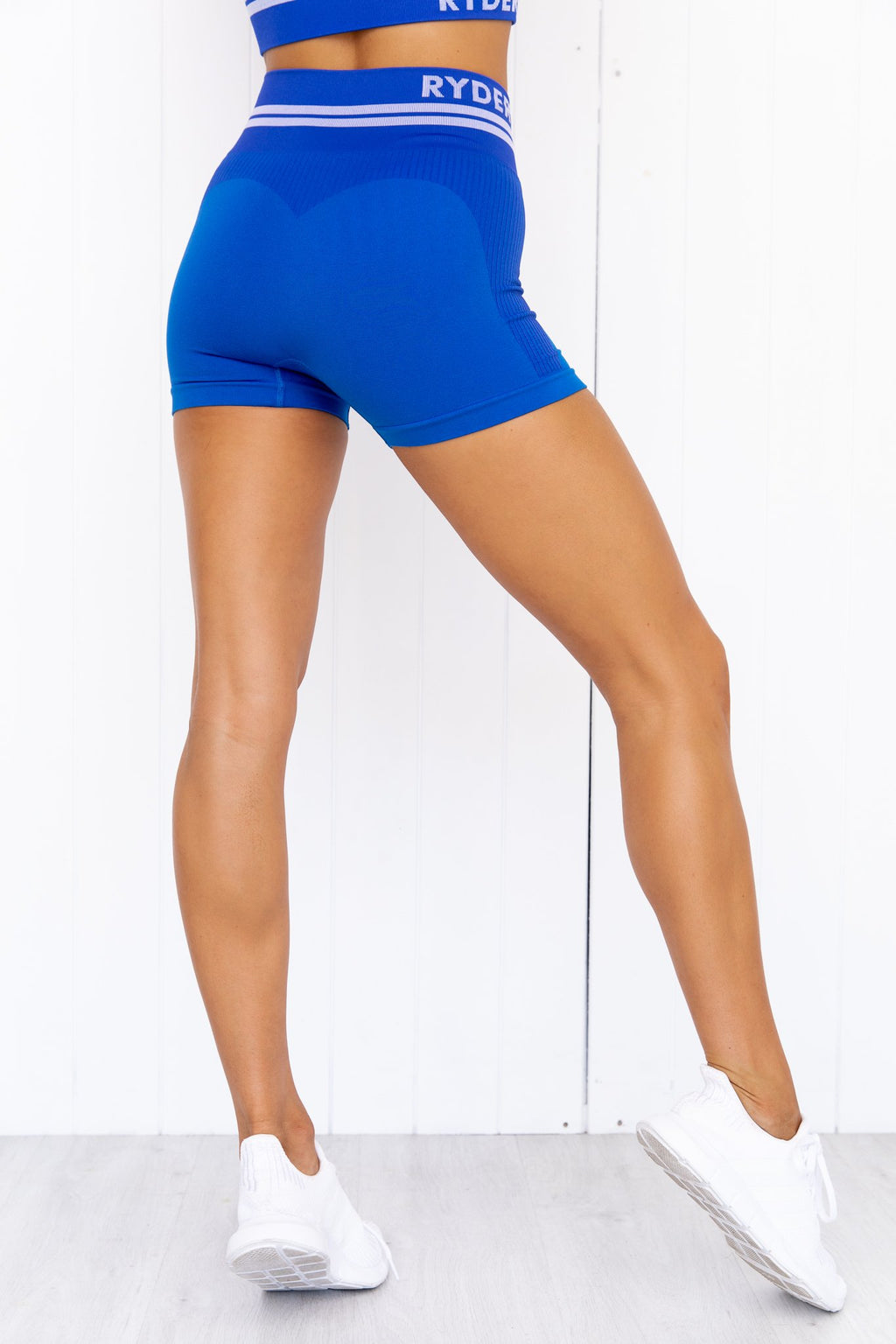 Freestyle Seamless High Waisted Shorts - Blue - PURE DASH