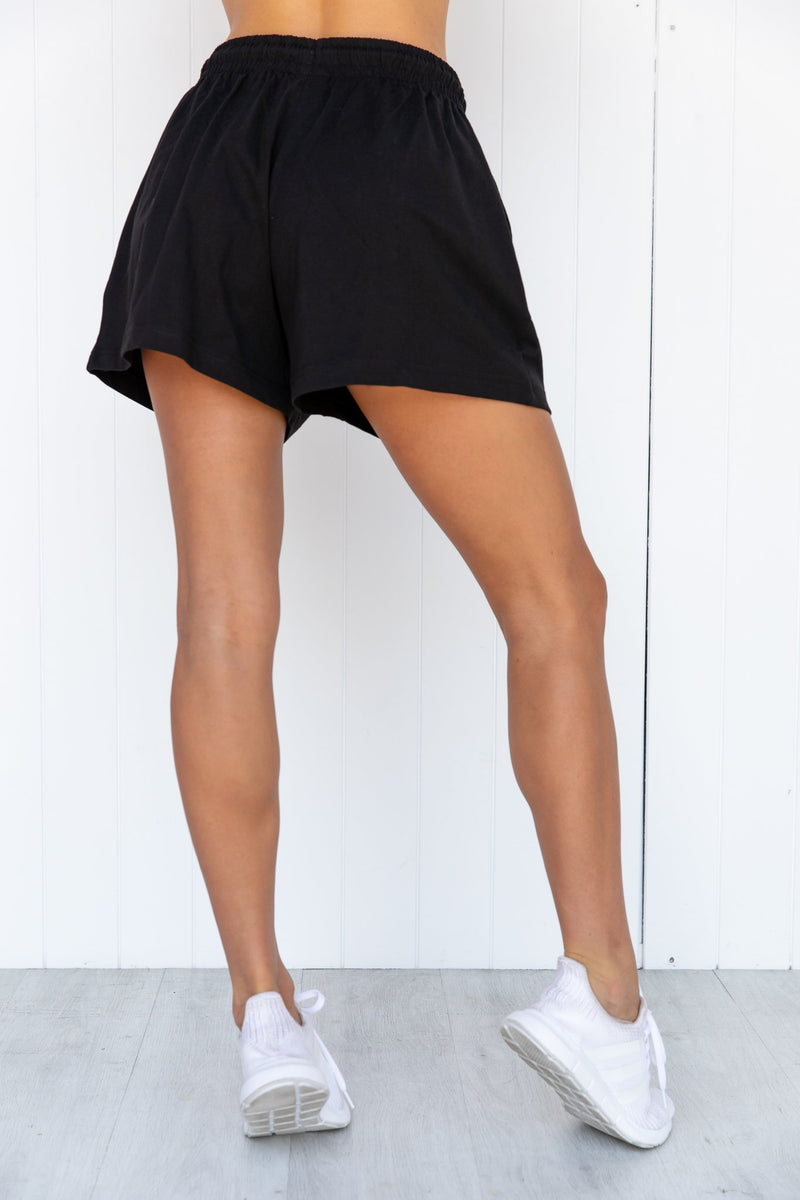 Champion Jersey High Waist Short - Black