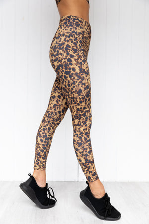 High Rise Midi Legging - Tortoise Shell
