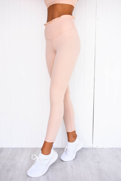 Frill Me 7/8 Leggings - Blush - PURE DASH