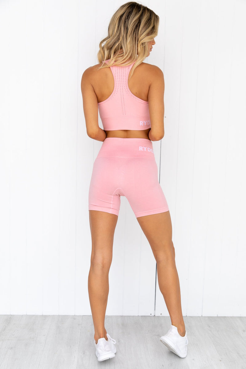 Seamless Staples Shorts - Baby Pink Marl