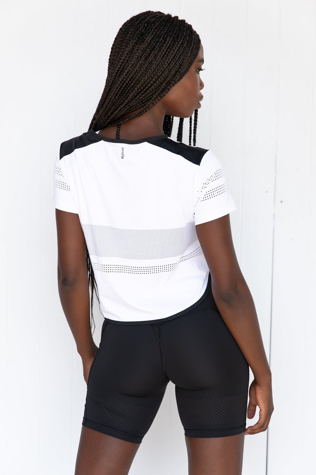 Bella Tee - White back pose\