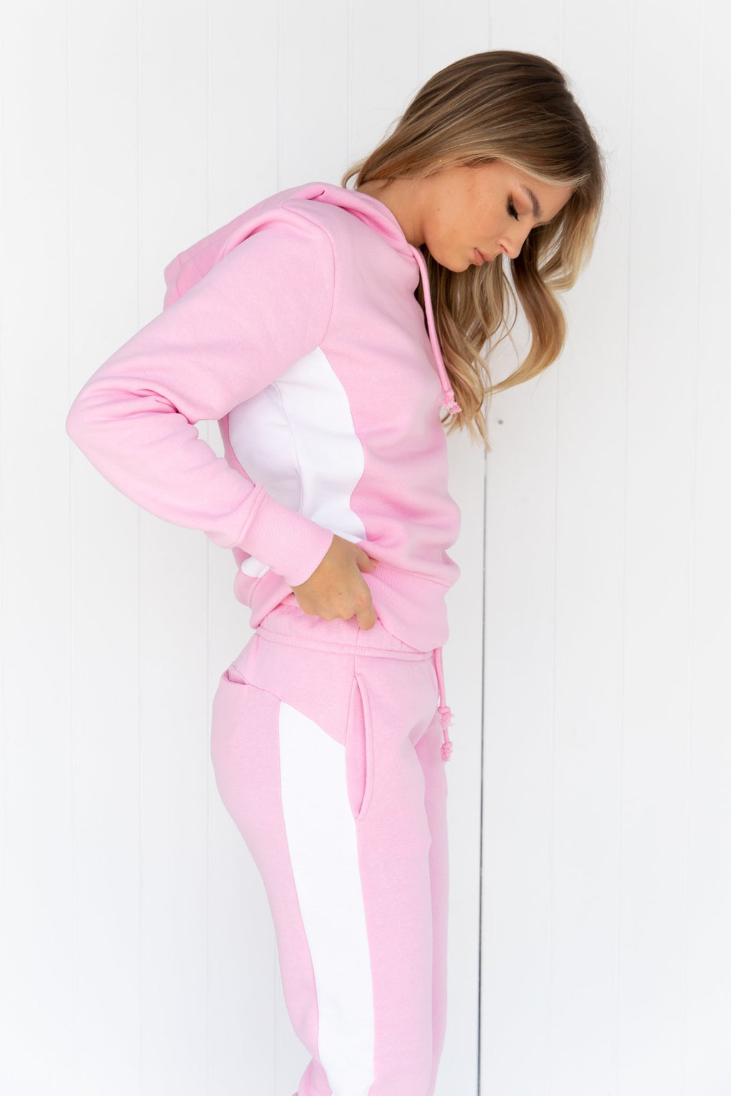 SPS Panel Hoodie - Pink/White