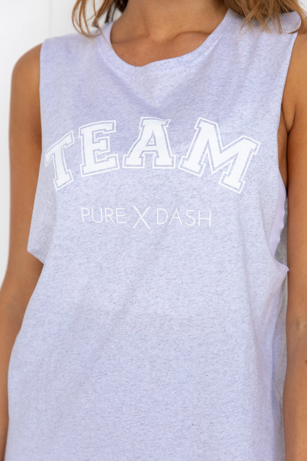 TEAM Pure Dash Tank - White Marle