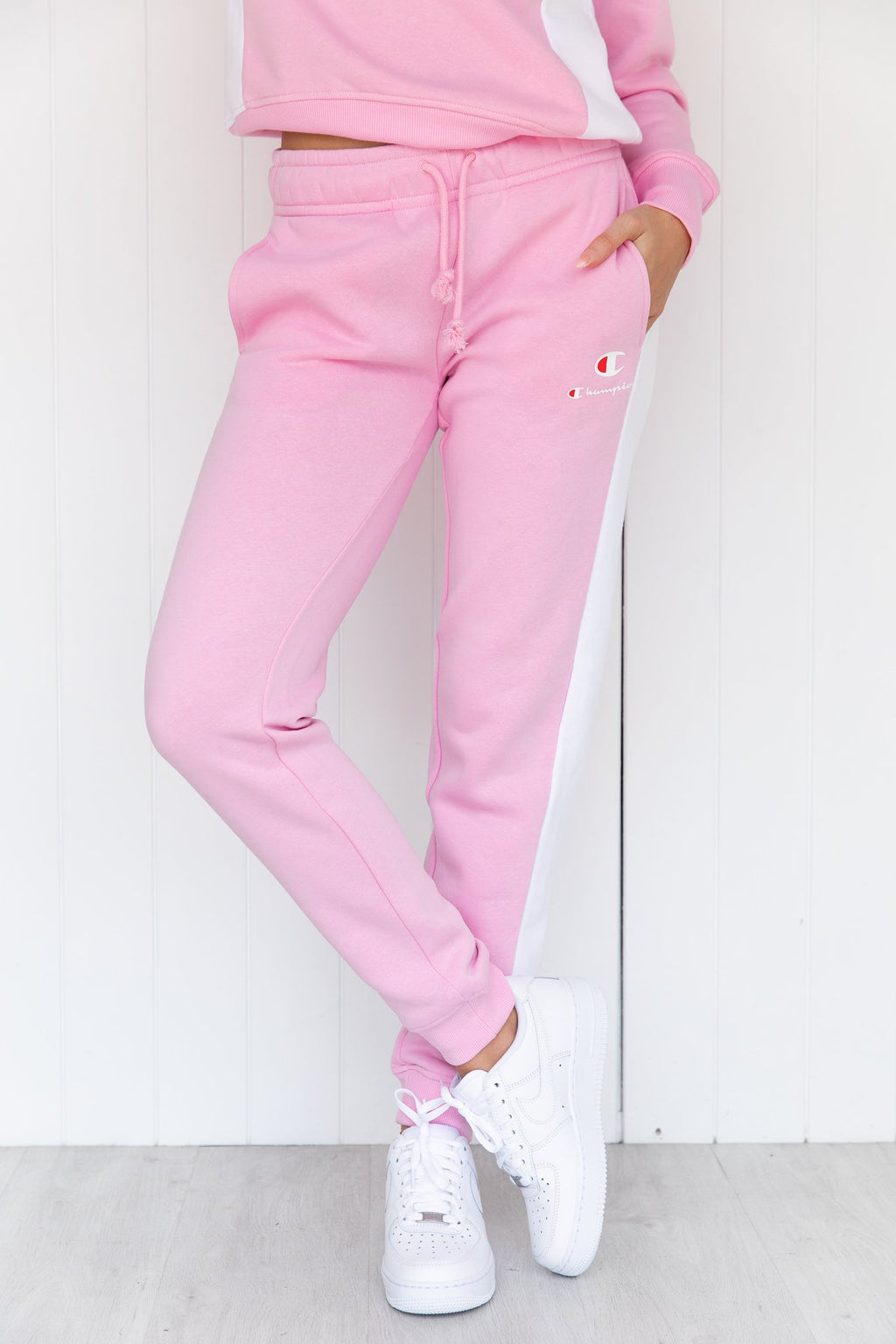 SPS Panel Trackpant - pink/white