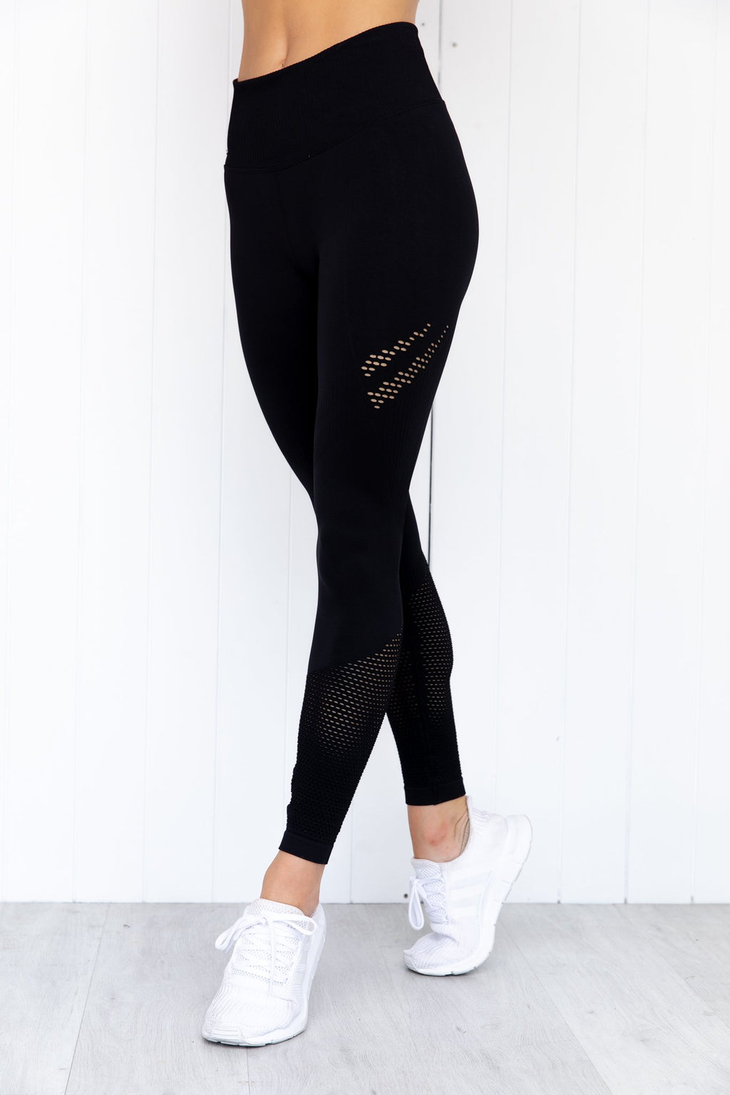 Black Statement Seamless Tights