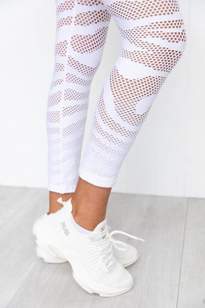 Cosmos Seamless 7/8 Leggings - White
