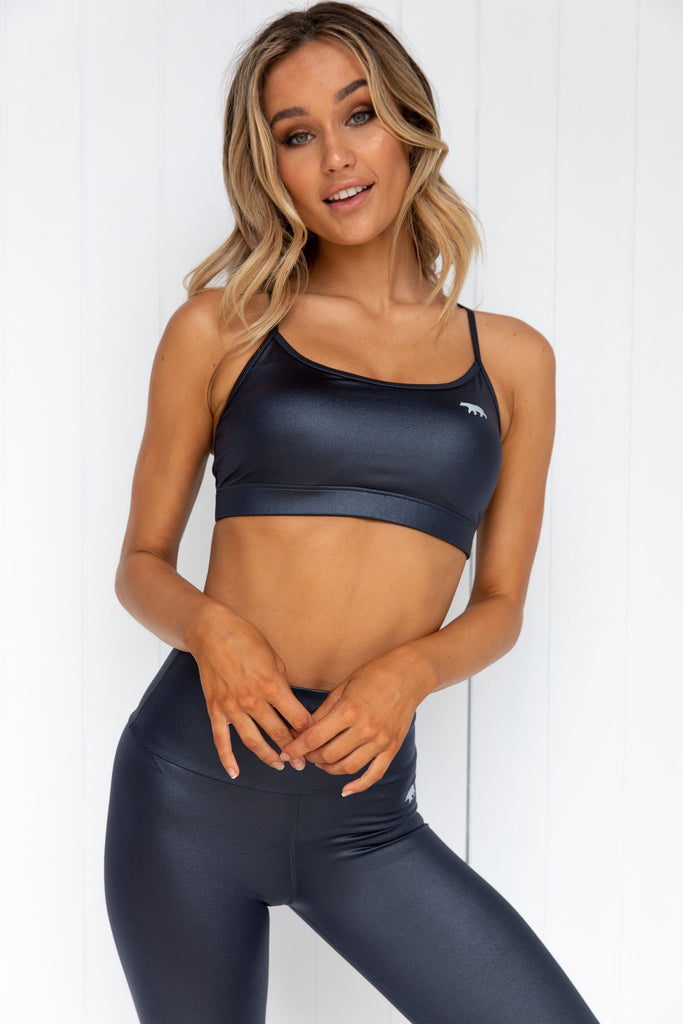 Crystal Push Up Sports Bra - Onix - PURE DASH
