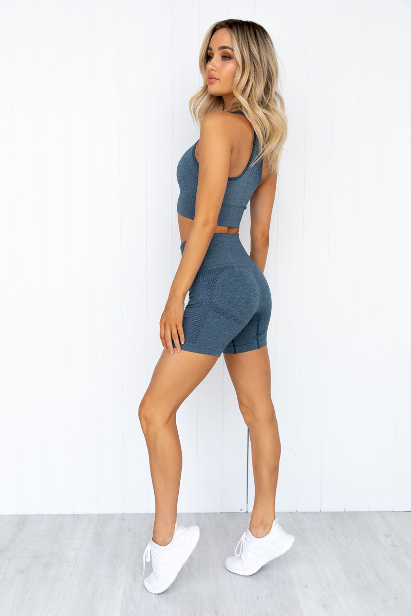 Seamless Staples Shorts - Teal Marl