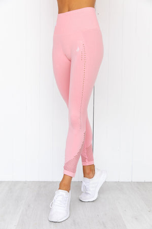Seamless Staples Leggings - Baby Pink Marl