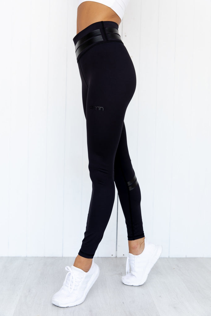 Line Up Tights - Black - PURE DASH