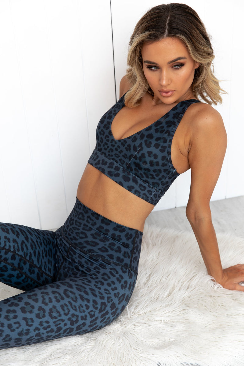 Midnight Leopard High Rise Leggings - PURE DASH