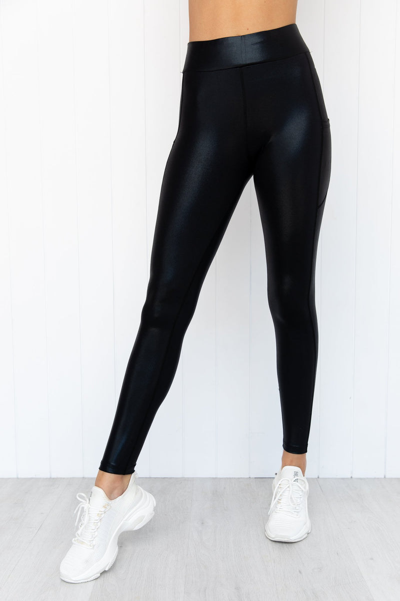 Zodiac Flex Zone Tights - Black