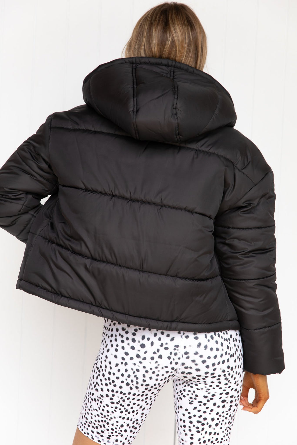 Taking Chances Puffer Jacket - Black