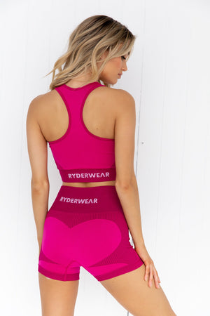 Electra Seamless Crop Top - Electric Pink