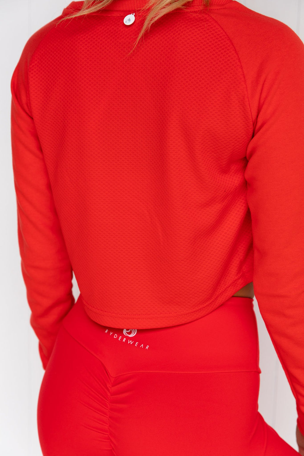 Staples Cropped Sweater - Red - PURE DASH
