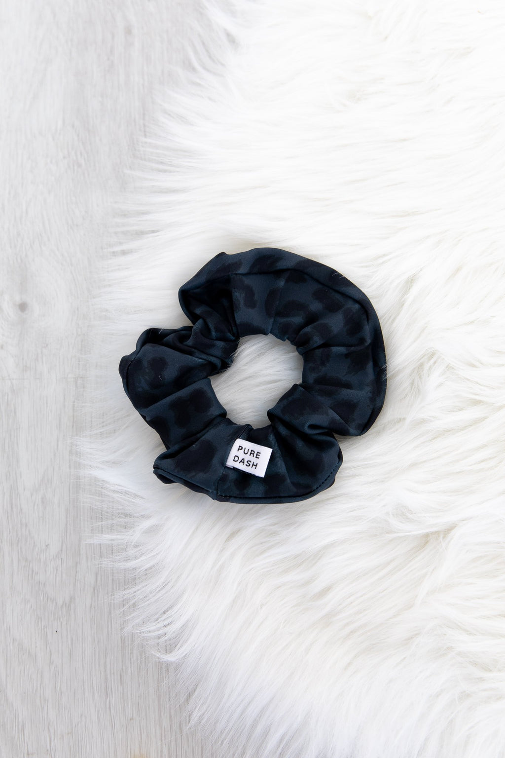 Pure Dash Scrunchie - Midnight Leopard
