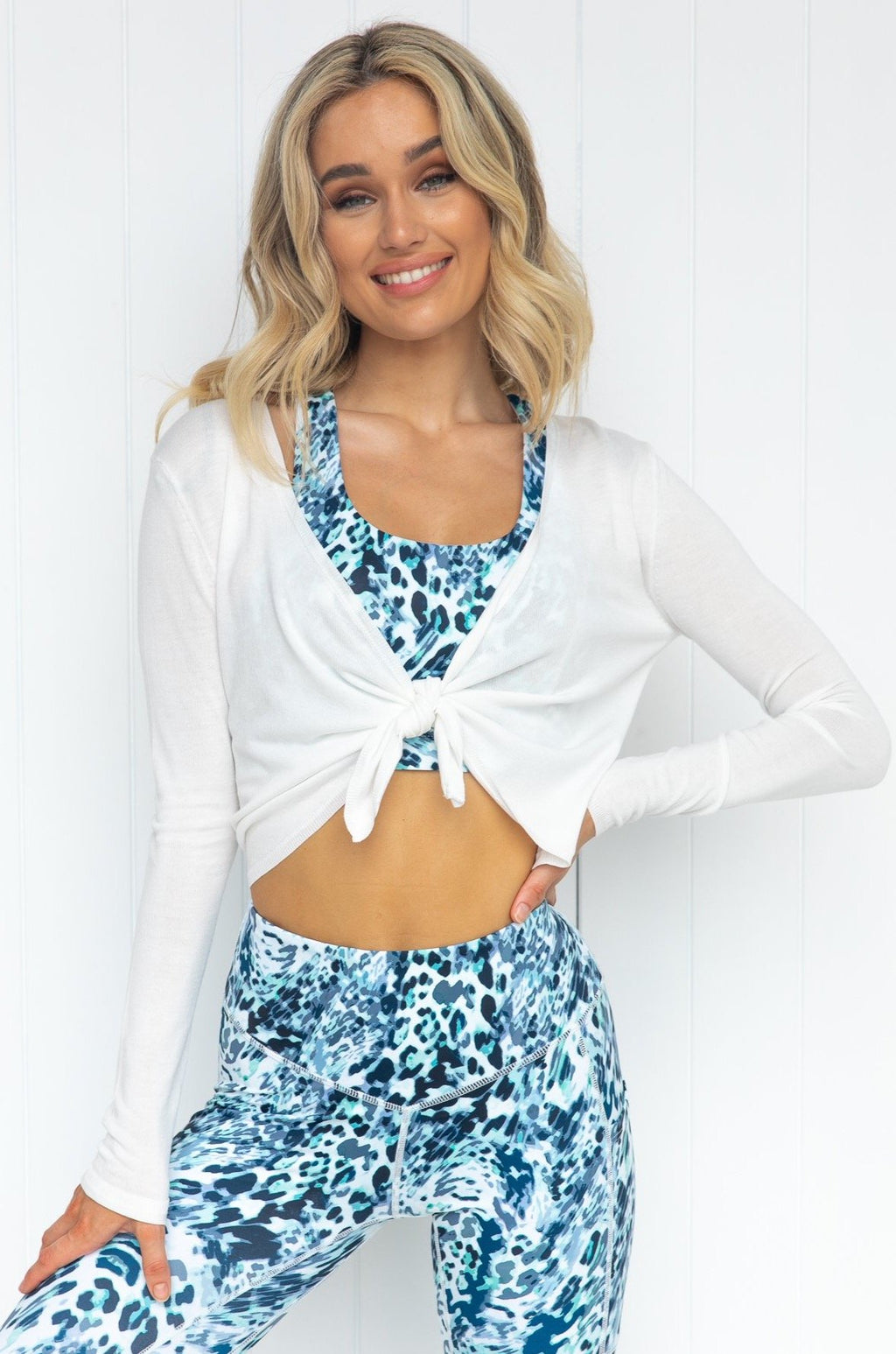 Cocoon Tie Front Top - White