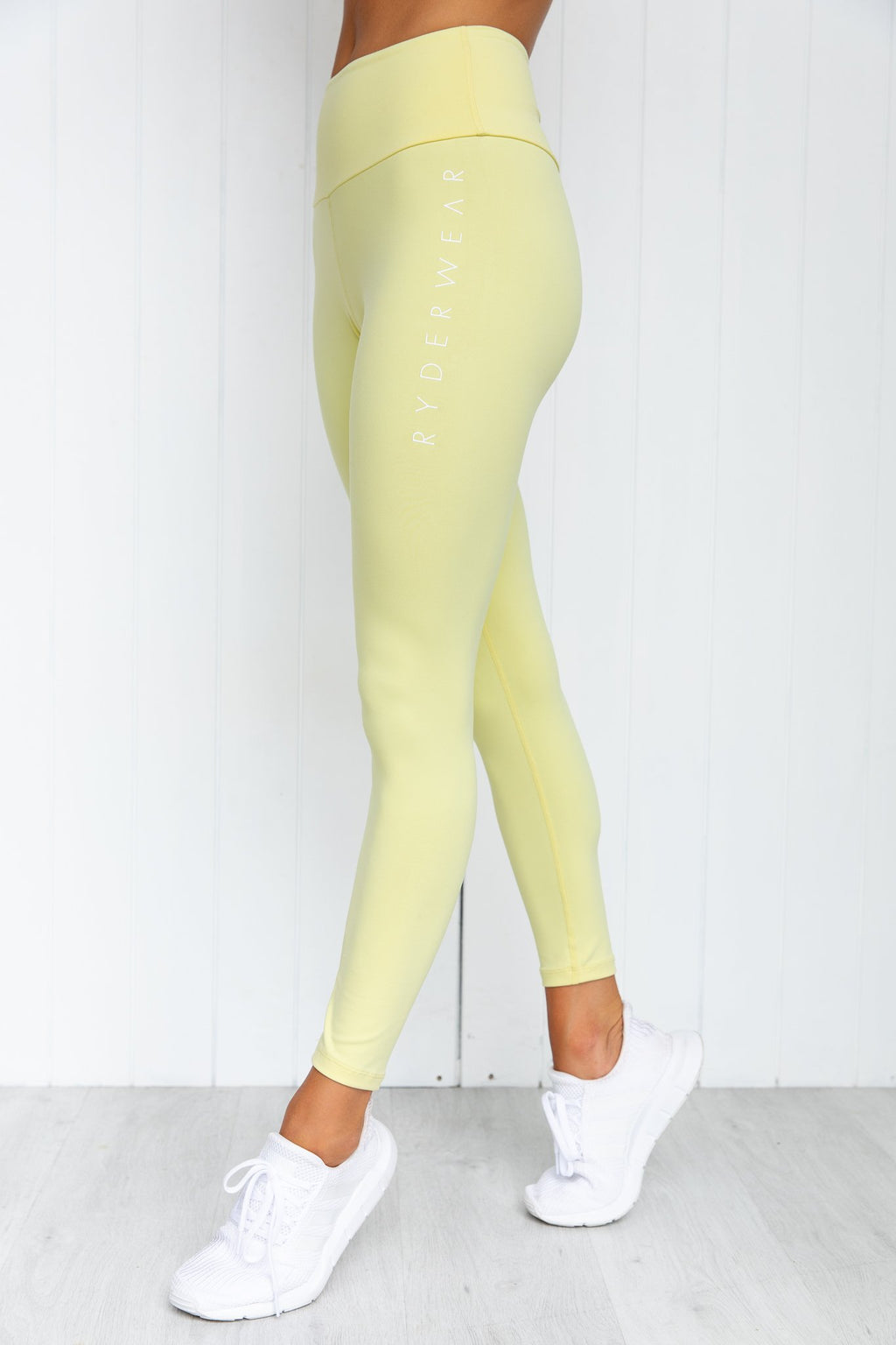 Staples Scrunch Bum Leggings - Soft Yellow - PURE DASH