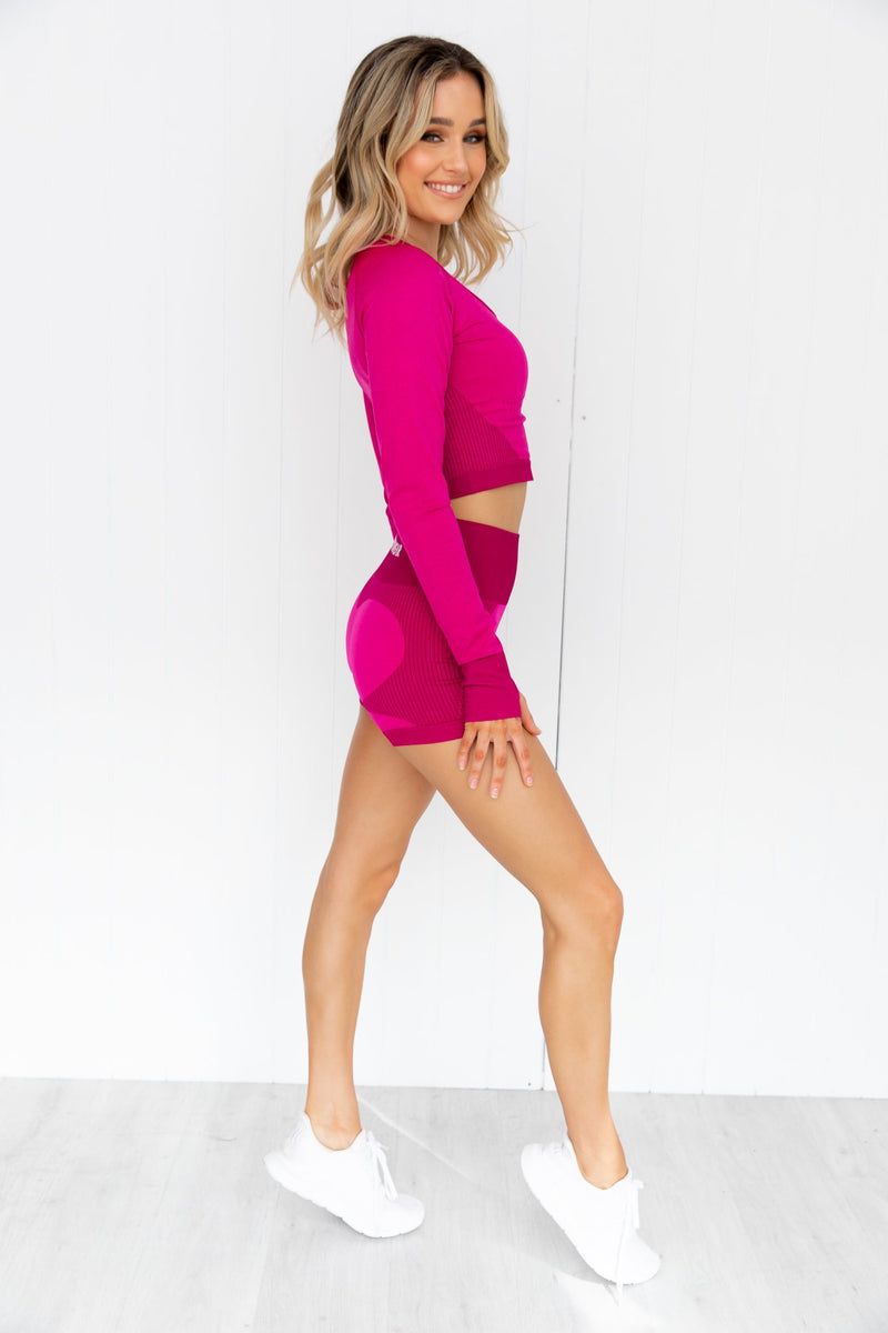 Electra Seamless Shorts - Electric Pink
