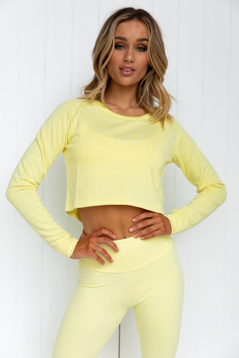 Cropped Sweater - Soft Yellow - PURE DASH