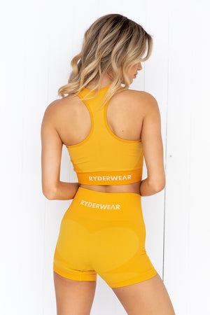 Electra Seamless Crop Top - Electric Yellow