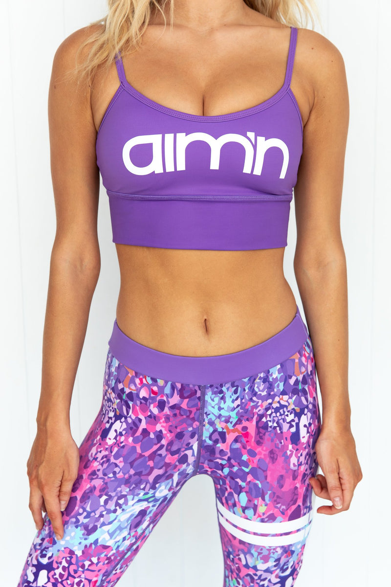 Purple Logo Strap Bra