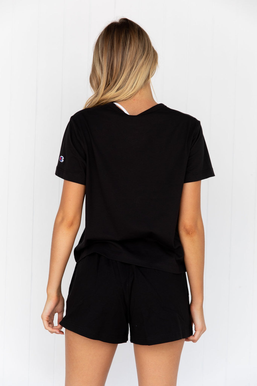 Champion Script Crop Tee - Black