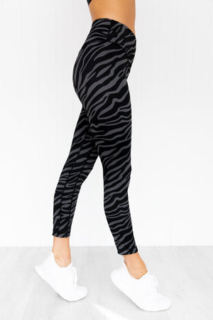 Savanna 7/8 Leggings - Charcoal