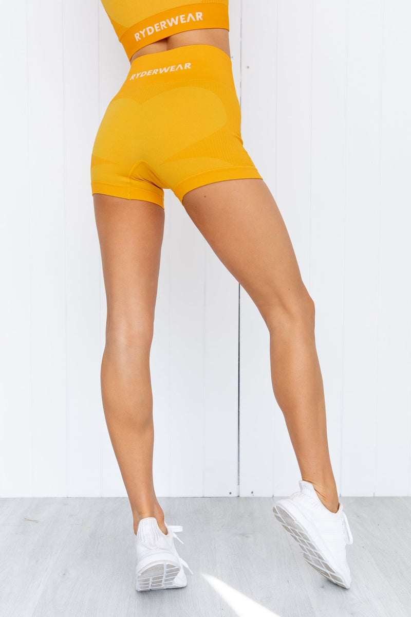 Electra Seamless Shorts - Electric Yellow