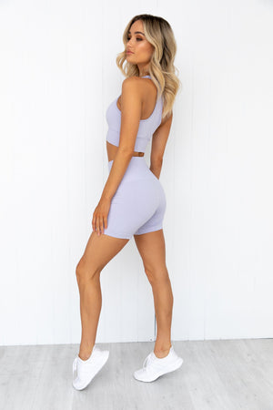 Seamless Staples Shorts - Lilac Marl