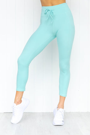 Everest 7/8 Legging - Turquoise