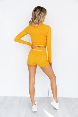 Electra Seamless Long Sleeve Crop - Electric Yellow