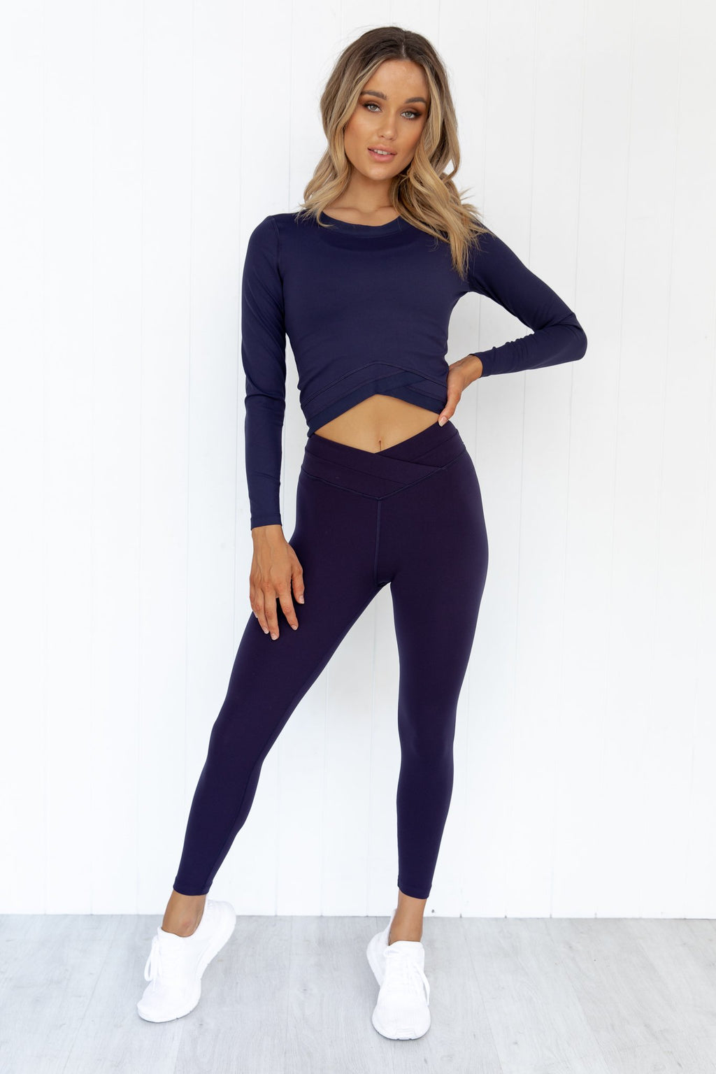 Wrap Waistband Ankle Biter Tight - PURE DASH