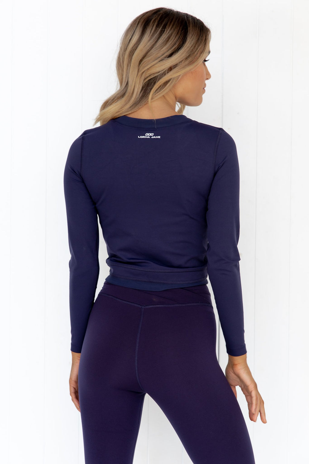 Wrap Active Long Sleeve Top - Navy - PURE DASH